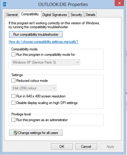 Outlook 2007 compatibility mode