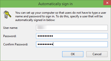 Auto login to win10 step 4